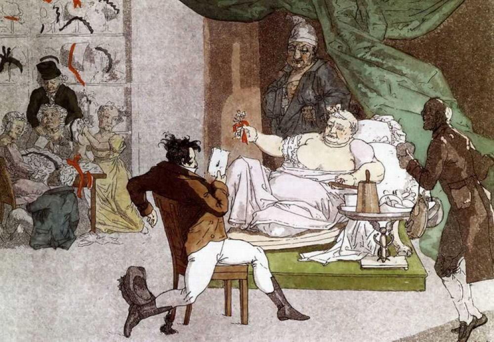 В период Отечественной войны 1812 года Венецианов совместно с другими художниками рисовал карикатуры на французов. Параллельно он писал жанровые картины на бытовые сюжеты – как из дворянской, так и из крестьянской жизни.