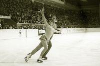 Танцы на льду, первенство СССР. Выступление Людмилы Пахомовой и Александра Горшкова. Рижский дворец спорта, 1971 год.