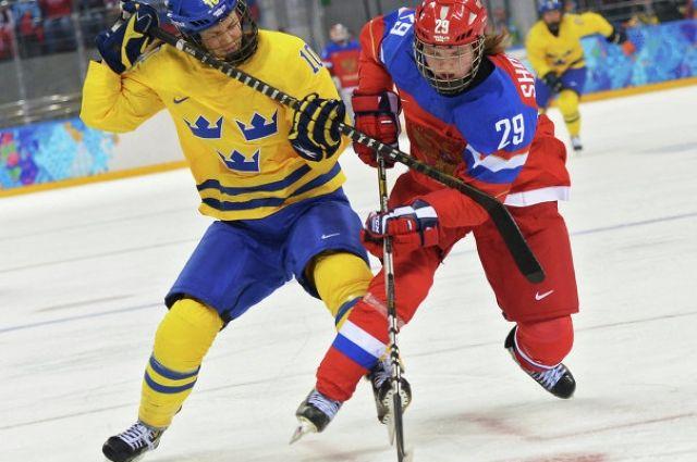 Матч между сборными командами Швеции и России