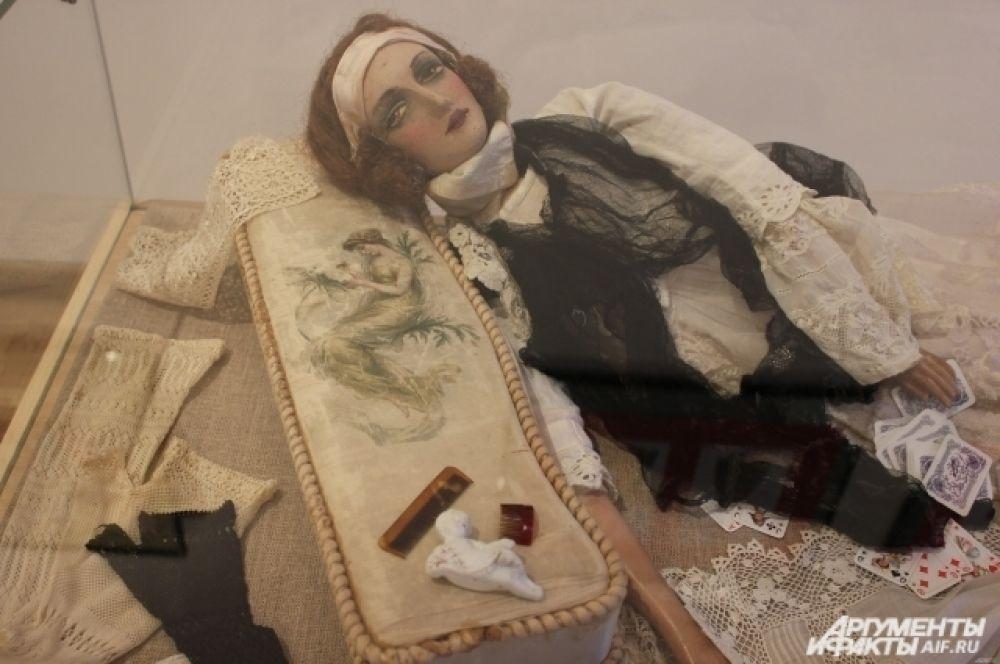 Будуарная кукла из Франции, текстиль. 1915 г.