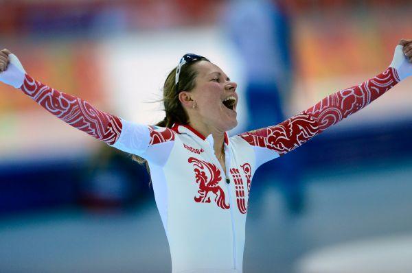 Ольга Граф, российская конькобежка и одна из первых российских медалистов Сочи – она завоевала «бронзу» на дистанции 3000 м.