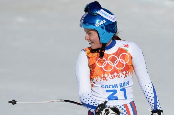 Марии Бедаревой побороться за высокие позиции в гигантском слаломе не удалось, и тем не менее 21-летняя брюнетка остаётся одной из самых красивых девушек соревнований.