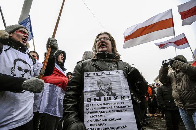 Акции протеста оппозиции в Белоруссии.