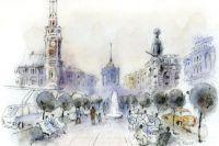 Петербуржцы и гости города будут отдыхать на лавочках Невского бульвара