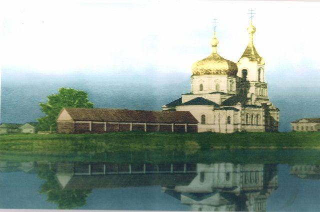 Так выглядел утраченный ныне храм в селе Слобода-Выходцево