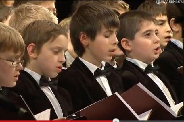 Первое выступление Сводного детского хора в Мариинском театре.