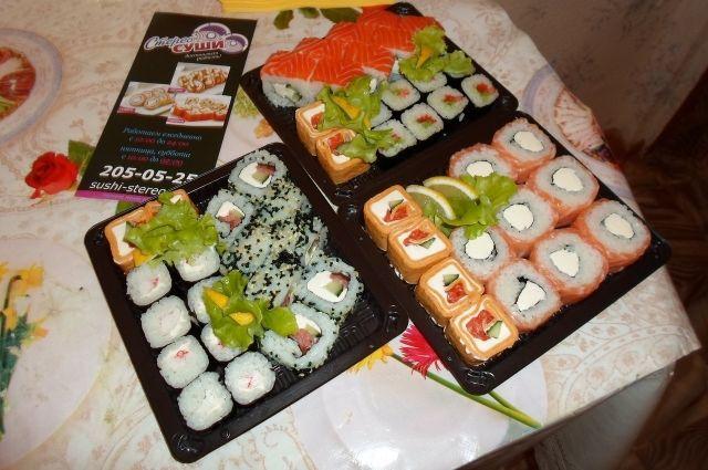Призовые суши.