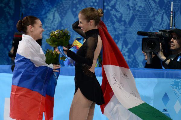 Аделина Сотникова с результатом 224,59 балла после произвольной программы стала олимпийской чемпионкой.