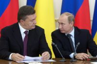 Виктор Янукович и Владимир Путин.