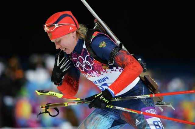 Яна Романова на Олимпийских играх в Сочи.