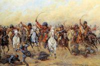 «Атака Дикой дивизии». В. В. Мазуровский, 1916 г.
