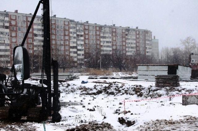 Стройплощадка на окраине Хабаровска