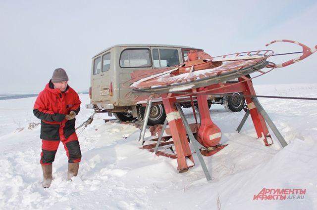 Всё оборудование горнолыжной базы Пётр Григорьев смастерил самостоятельно.