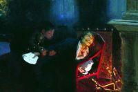 Картина Ильи Репина «Самосожжение Гоголя». 1909 год.