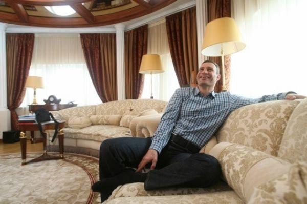 Гостиная в квартире Виталия Кличко
