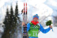 Никита Крюков после «серебра» в командном спринте на Олимпиаде в Сочи.