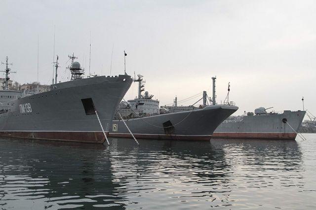 Черноморский флот РФ в Крыму.
