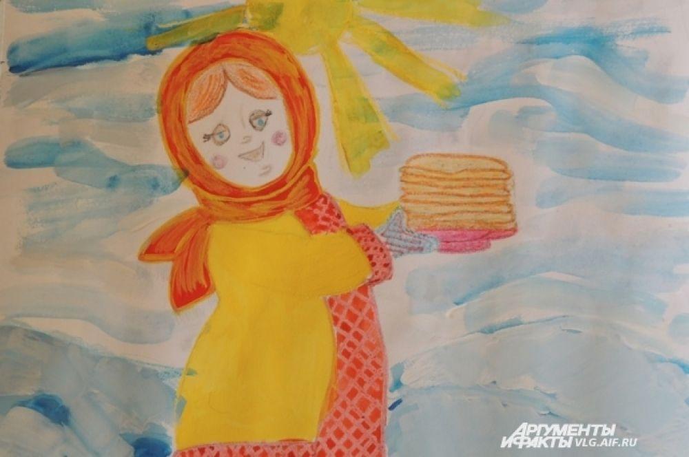 Блины на Масленицу положено печь каждый день и угощать ими родственников и гостей. Рыжкин Михаил, 2 класс.