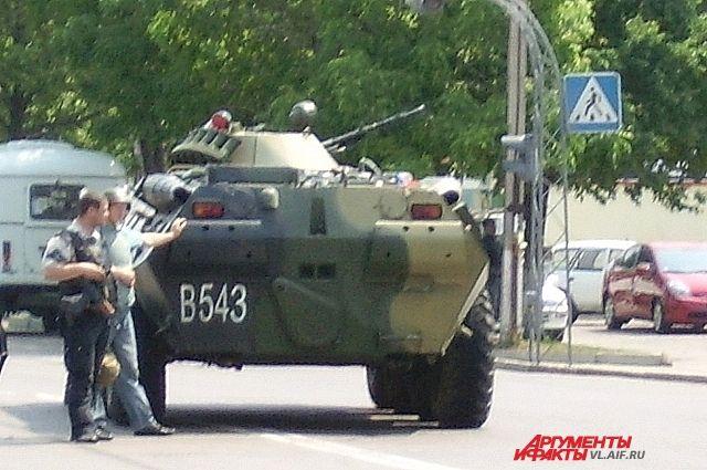 Захват «приморских партизан» проводился с помощью бронированной техники
