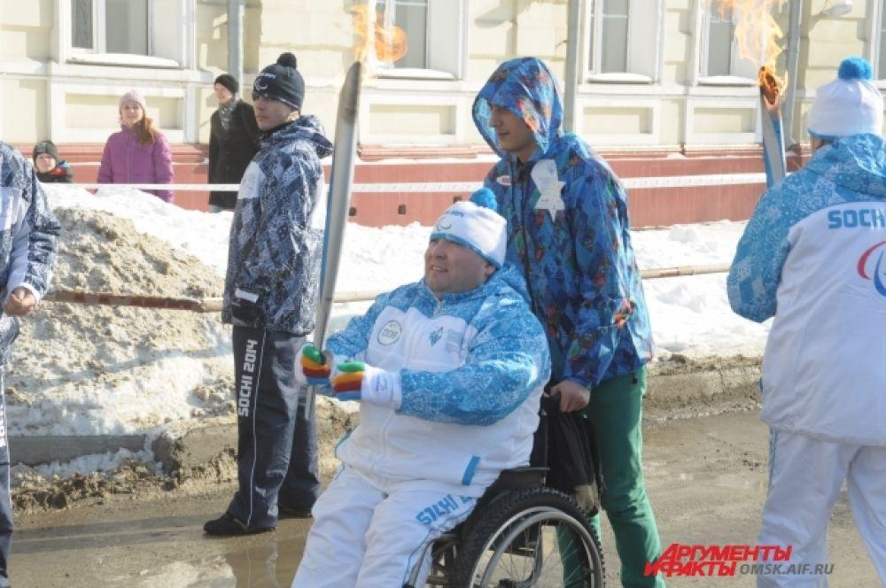 Эстафета Паралимпийского огня стартовала в Омске.