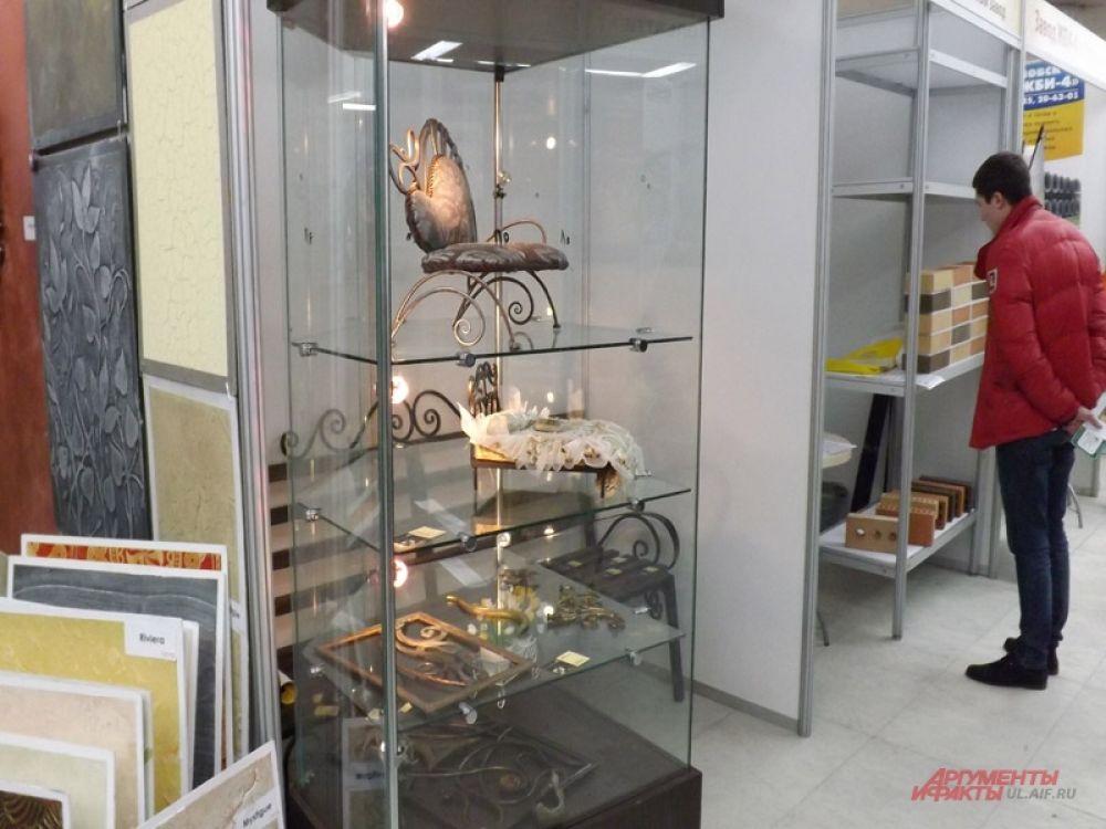 На выставке можно было увидеть кованые изделия