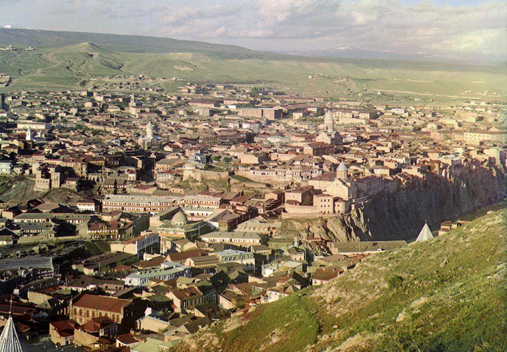 Вид на Тбилиси, 1910 год.