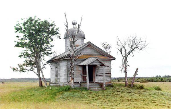 Маленькая церквушка в Белозерске, 1909 год.