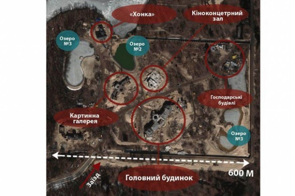 План замка Иванющенко в Конча-Заспе