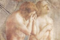 «Изгнание из рая», фреска Мазаччо. 1425–1428 годы.
