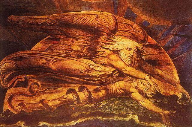 «Сотворение Адама». Уильям Блейк. 1795 год.