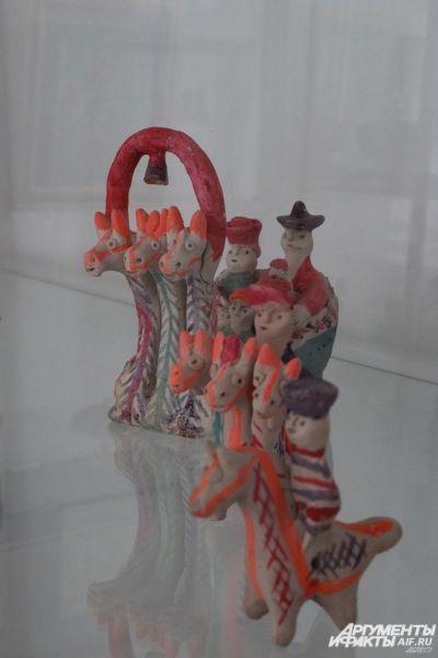 Добровская игрушка, Липецкая область, 20-й век, глина.