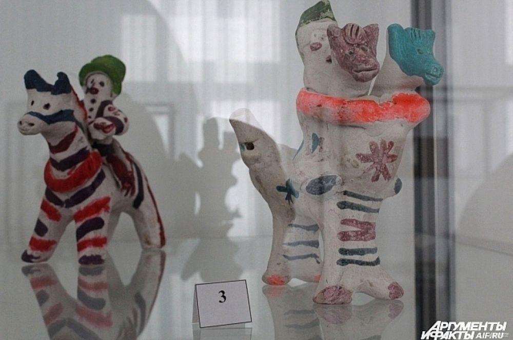 Хлудневская игрушка, Калужская область, 20-й век, глина.