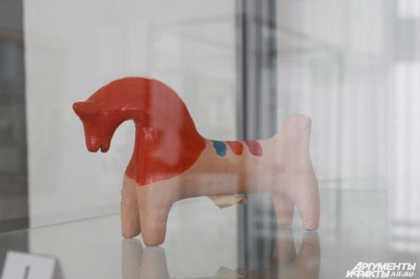 Кожлянская игрушка, Курская область, 20-й век, глина.