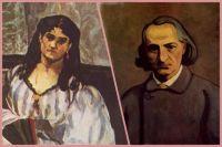 Жанна Дюваль и Шарль Бодлер. Использованы картины Эдуара Мане (1862 год) и Феликса Валлоттона (1902 год).