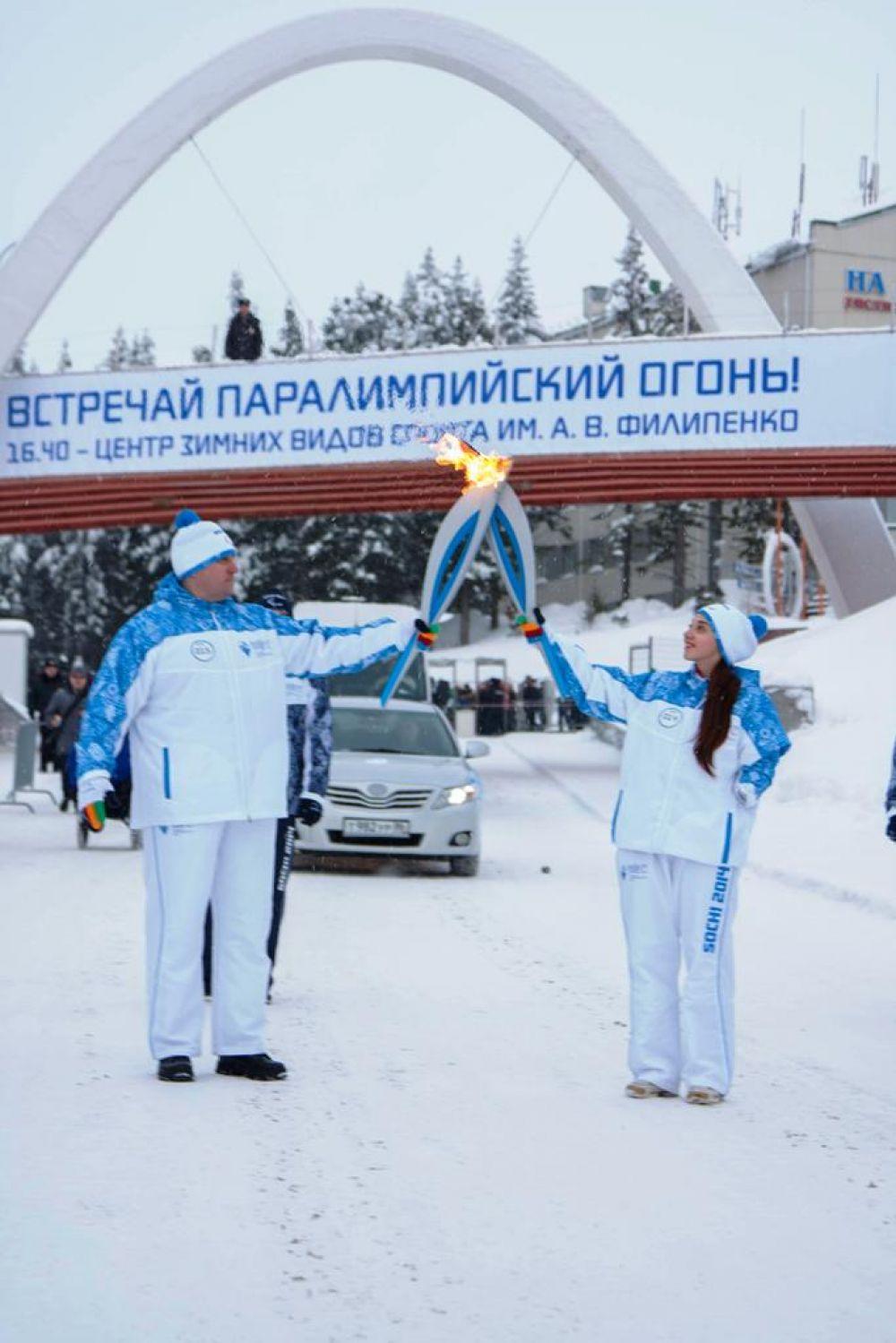 Финишировала эстафета в Центре зимних видов спорта имени А.В. Филипенко