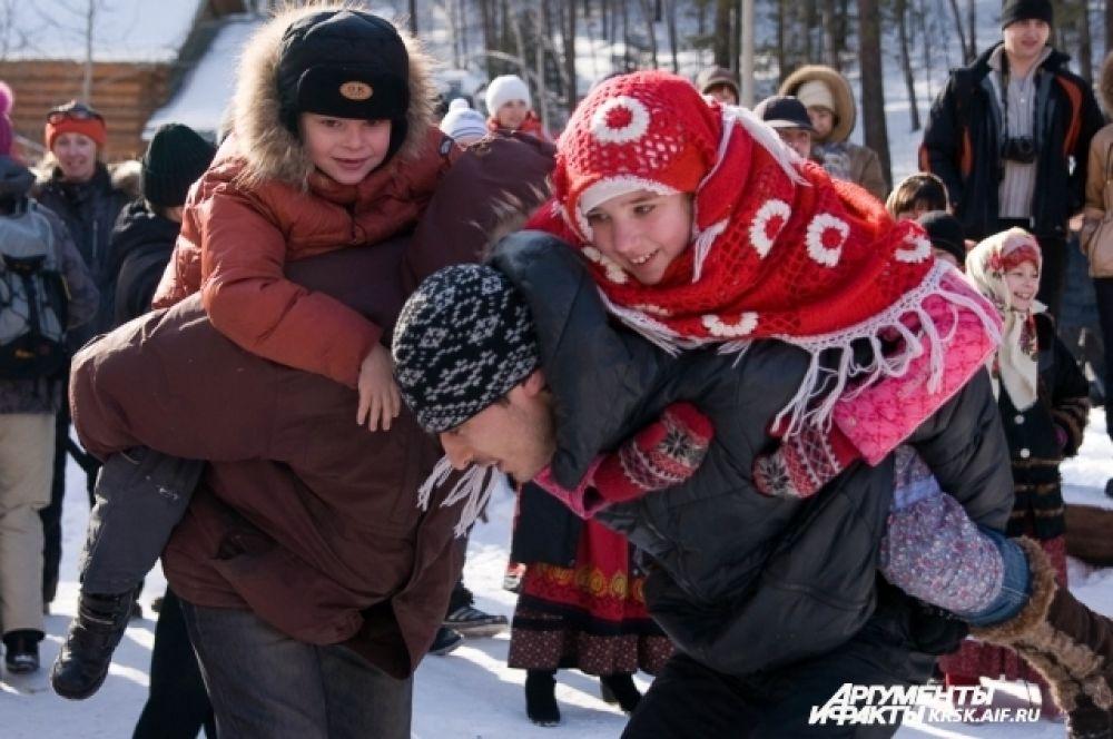 Масленица в Красноярске в 2012 году