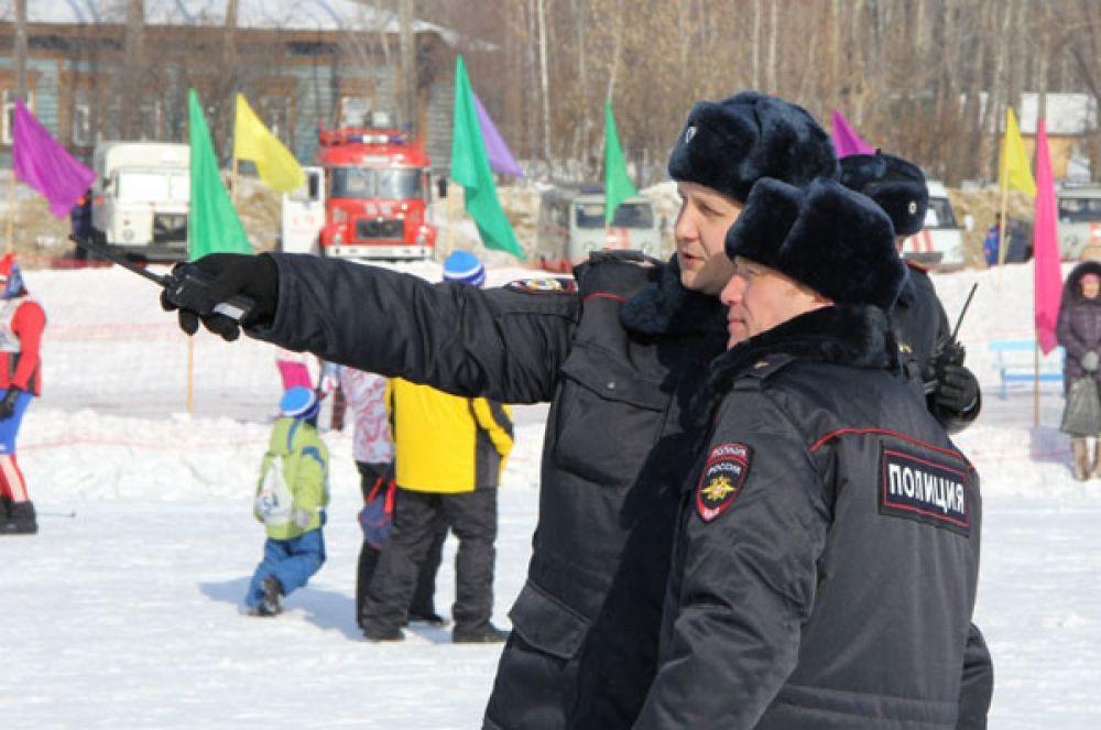 Полицейские сохраняли порядок «Лыжни России-2014».