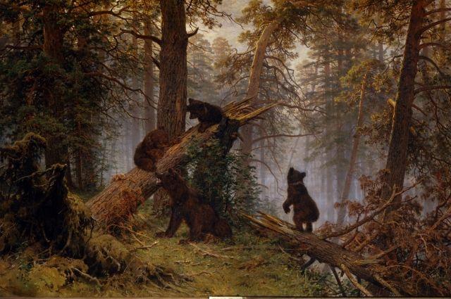 Картина Ивана Шишкина «Утро в сосновом лесу».