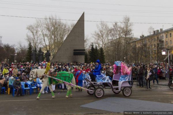 Эстафета завершилась праздничным концертом на пл. Мира.