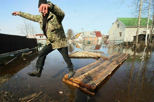 В зоне риска - частный сектор Омска.