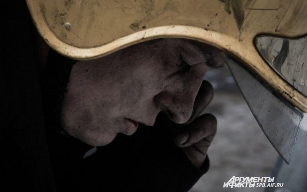 Дежурный службы пожаротушения по городу после разведки боем.