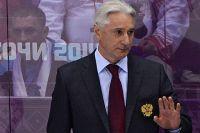 Зинэтула Билялетдинов в матче группового этапа между сборными командами США и России на Играх в Сочи.