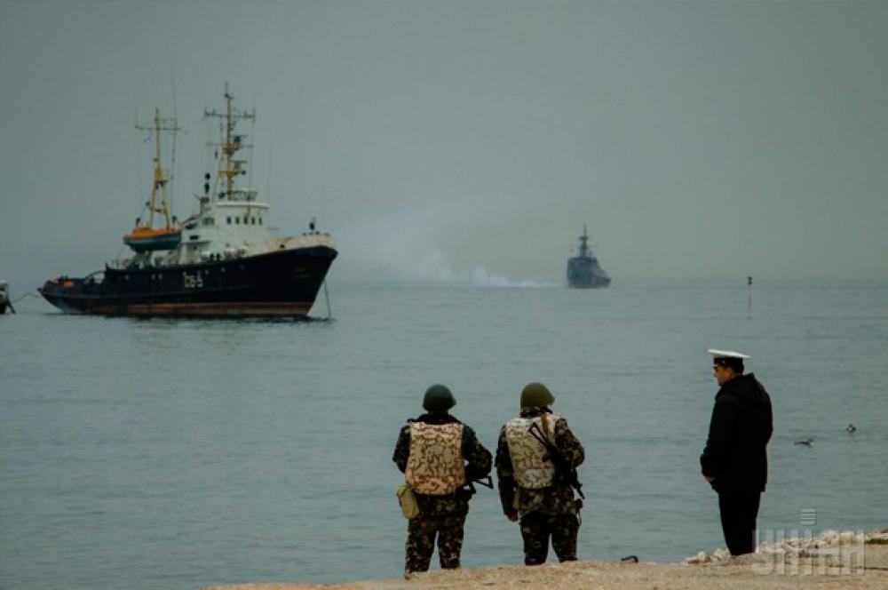 Военно-морская техника в Стрелецкой бухте (Севастополь)
