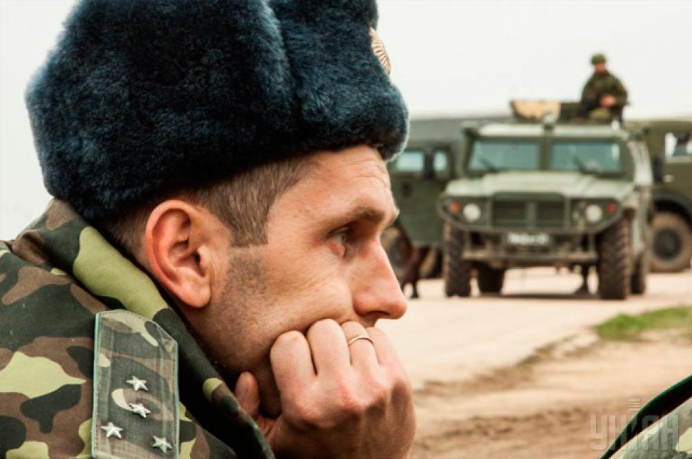 Офицер полка тактической авиации Военных сил Украины на аэродроме «Бельбек»