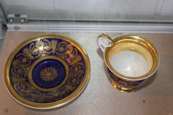 Блюдце и чашка. Фарфоровый завод Ф.Я. Гарднера 1830-е гг.