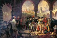 """Бонапарт посещает чумной госпиталь в Яффе 11 марта 1799 г."" Париж, 1771 — Мёдон, 1835 года. Работа Антуана-Жана Гро"