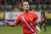 Роман Широков после гола в ворота Азербайджана. 2013 год.