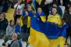 Украинские болельщики на трибунах «Антонис Пападопулос»
