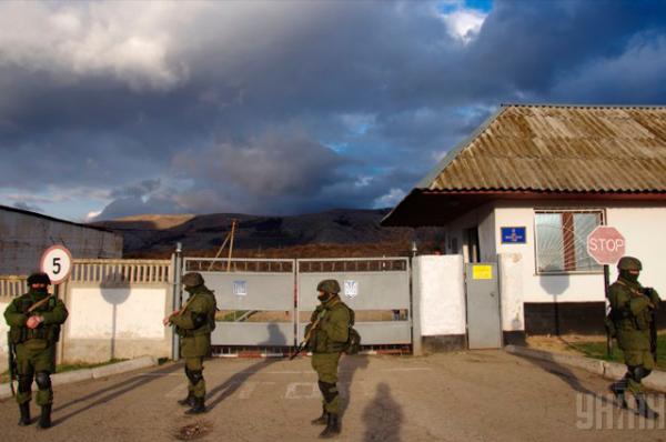 Заблокирован также КПП украинской воинской части