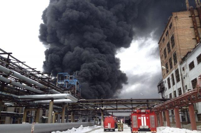 Возгорание на заводе СК удалось потушить.